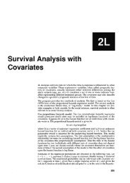 Survival Analysis with Covariates - Statistical Software