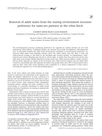 Removal of adult males from the rearing environment increases ...