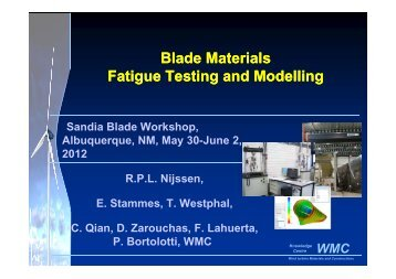 Blade Materials Fatigue Testing and Modelling Blade Materials ...