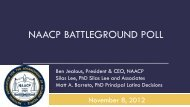 NAACP BATTLEGROUND POLL