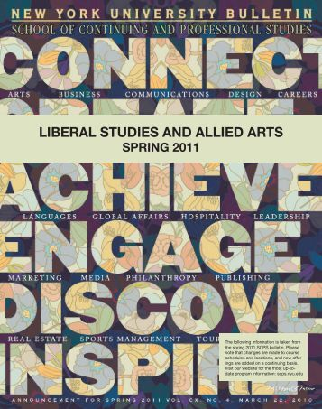 LIBERAL STUDIES AND ALLIED ARTS - School of Continuing and ...