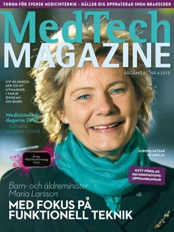 MedTech Magazine nr 4 2010. Medicinteknikdagarna 2010. - CTMH