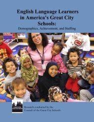 English Language Learners in America's Great City Schools: