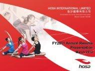 FY2011 Annual Results Presentation - TodayIR.com
