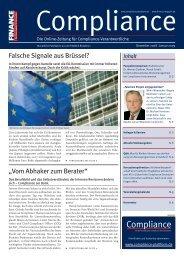 (PDF) | Ausgabe Dezember 2008/ Januar 2009 - Compliance
