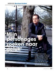 Interview met de auteur in BOEK Magazine - Uitgeverij Cossee