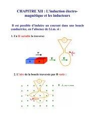 CHAPITRE XII : L'induction électro- magnétique et les inducteurs - IIHE