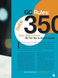 GC Rules: - On Contracts