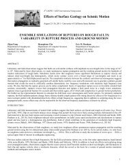 ensemble simulations of ruptures on rough faults - ESG4 ...