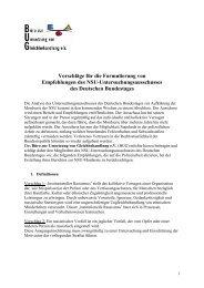Vorschläge für die Formulierung von Empfehlungen des NSU ...