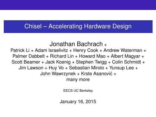 riscv-chisel-tutorial-bootcamp-jan2015