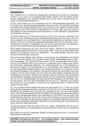 Fall III - Angabe - Institut für Öffentliches Wirtschaftsrecht