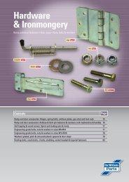 Hardware & Ironmongery - DUNCAN McINTOSH TRAILERS
