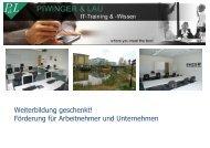 Präsentation Wegebau und KUG bei P&L - X-Learning