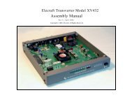 ELECRAFT T1 AUTOMATIC ANTENNA TUNER Assembly Manual