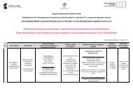 1 Program Operacyjny Kapitał Ludzki Poddziałanie 9.6.2 ...