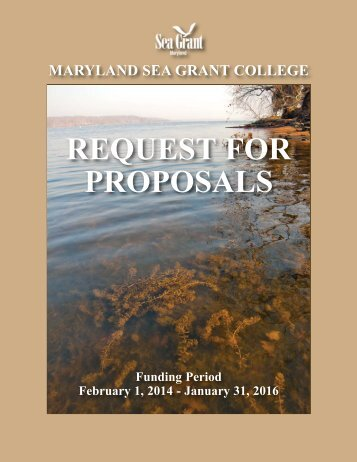 full solicitation - Maryland Sea Grant - University of Maryland