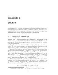 Kapitola 1 Relace