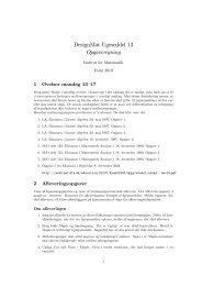 DesignMat Ugeseddel 13 Opgaveregning - Sider flyttet fra DTU