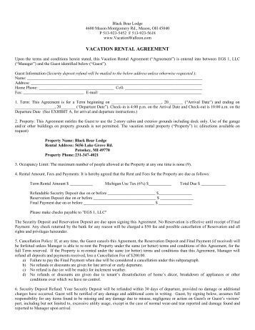 Invoice mr and mrs home for Cabin rental agreement