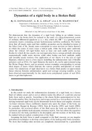 Dynamics of a rigid body in a Stokes fluid