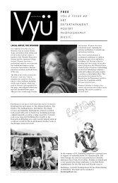 free v ol.2 issue #2 art entertainment poetry ... - Vyu Magazine