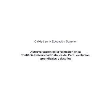 Autoevaluacion en la PUCP - Ingeniería Informática y de Sistemas
