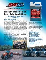 Synthetic 10W-30/SAE 30 Heavy Duty Diesel Oil (ACD) - Synpsg
