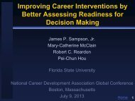 readiness for career decision making - Florida State University