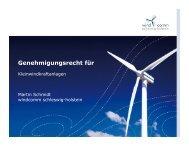 Genehmigungsrecht für Kleinwindkraftanlagen