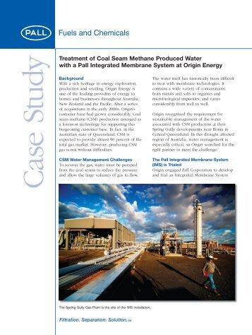 Treatment of Coal Seam Methane Produced ... - Pall Corporation