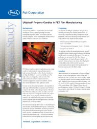 Ultipleat® Polymer Candles in PET Film ... - Pall Corporation