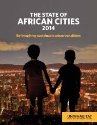 Habitat state of African cities