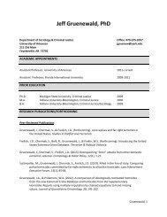 See Dr. Gruenewald's CV - Department of Sociology and Criminal ...