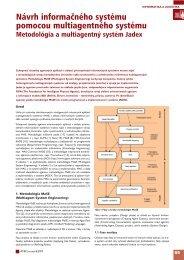 Návrh informačného systému pomocou ... - ATP Journal