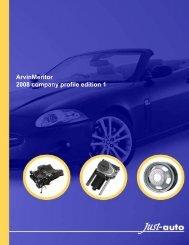 ArvinMeritor 2008 company profile edition 1 - Alacra