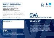 SVA Information Leaflet - Supporting Voluntary Action - Scottish ...