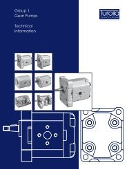 Group 1 Gear Pumps Technical Information - Total Hydraulics BV