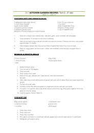 2013 KG - Term 2 Week 3 Recipes - Elwood Primary School