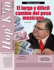 El largo y difícil camino del peso mexicano