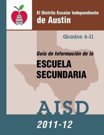 ESCUELA SECUNDARIA 2011-12 - Austin ISD