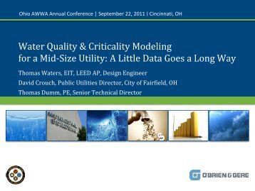 Water Quality & Criticality Modeling for a Mid-Size ... - Ohiowater.org