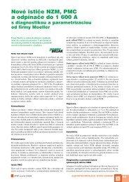 Nové ističe NZM, PMC a odpínače do 1 600 A - ATP Journal
