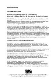 Big Sign AG - Petra Tischler Public Relations