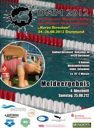 Meldeergebnis Abschnitt 4 - Deutsche Meisterschaften