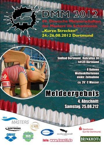 "Meldeergebnis Abschnitt 4 - Deutsche Meisterschaften ""Kurze Strecke"""