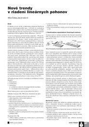 Nové trendy v riadení lineárnych pohonov - ATP Journal