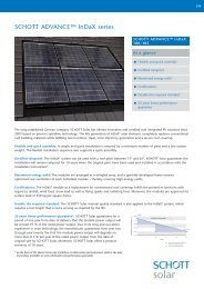 SCHOTT ADVANCE InDaX 180-185 data sheet EN ... - Solarni paneli