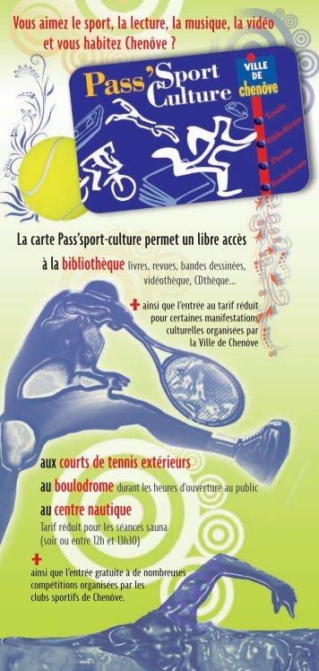 Carte Pass'Sport Culture - Ville de Chenôve