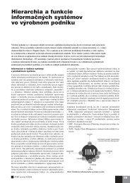 Hierarchia a funkcie informačných systémov vo ... - ATP Journal